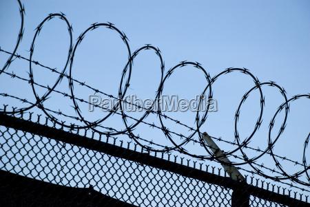 niebezpieczenstwo zagrozenia knast wiezienie granica ochrony