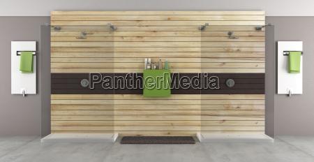 nowoczesna lazienka z podwojnym prysznicem