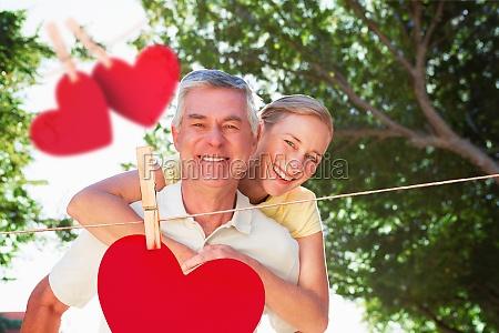 composite image of happy senior man