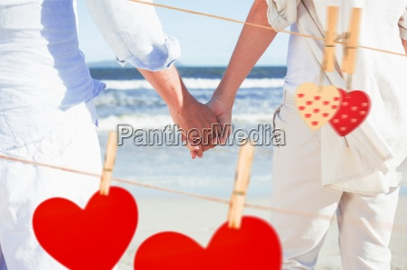 composite image of couple on the