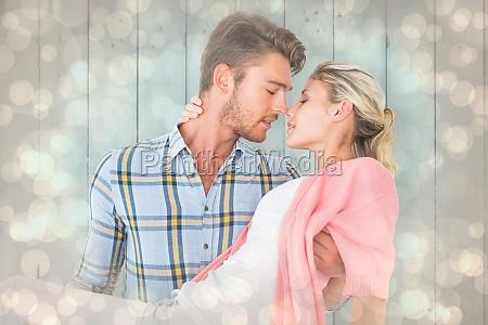 composite image of handsome man picking