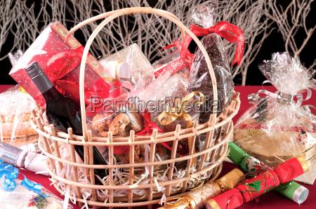 christmas kosz z ciasteczkami czekolada santa