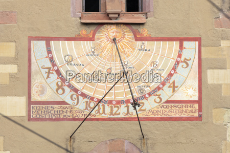 sundial at the wuerzburg town hall