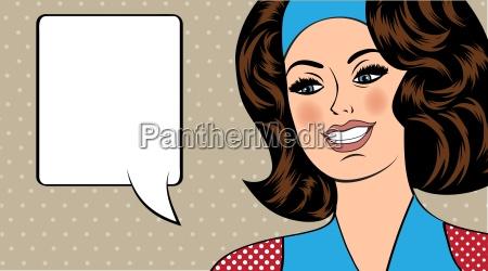 pop art ilustracji dziewczyna z banki