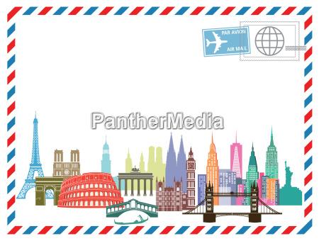 list travel airmail