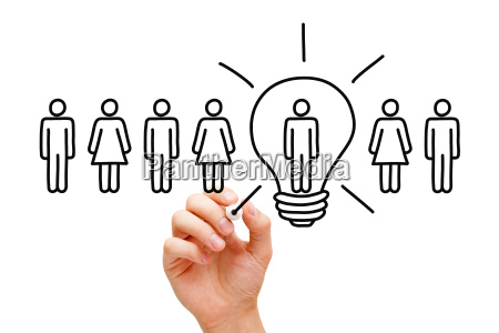 great idea light bulb concept