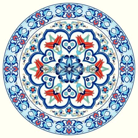 zabytkowe ottoman turecki wzor wektor projekt
