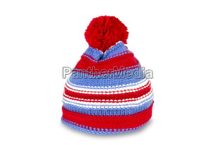 striped nakrycie glowy czapka zimowa wlokienniczych
