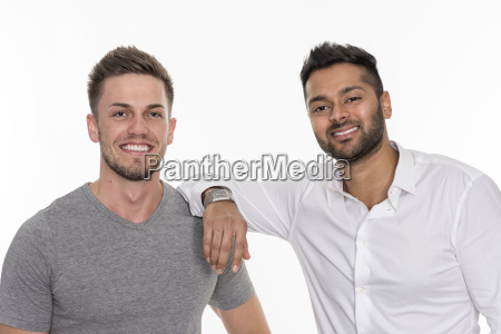 2 smiling young men
