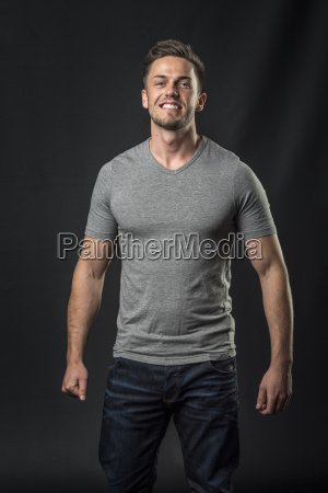 smiling dream man in jeans