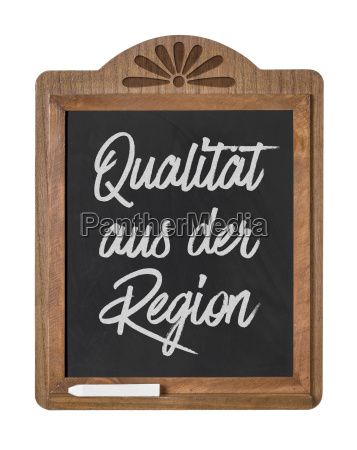 tablica z oznakowania jakosci regionu