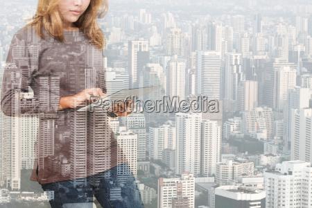 miasto grod town technologia tabletka posiadajacych