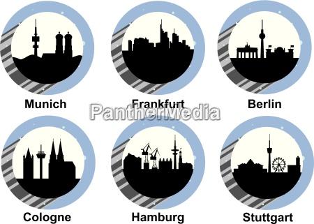 niemcy republika federalna sylwetka niemiecki ikona