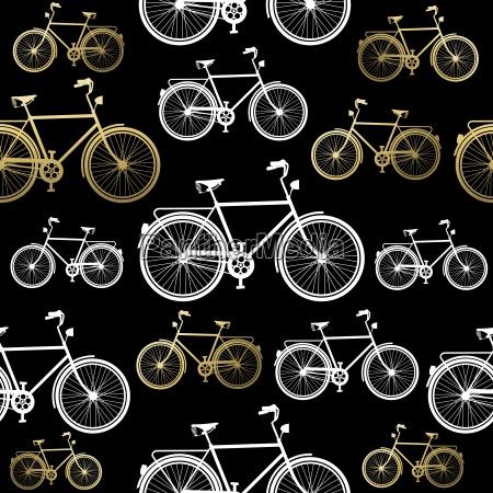rower bez szwu wzor rower zlota