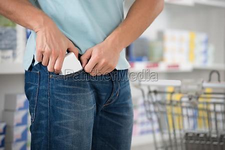 shoplifter wykorzystanie pakietow w kieszeni