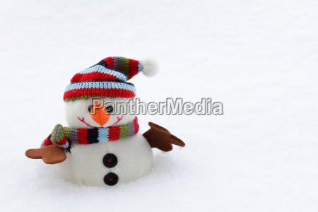 zima zimowy zabawka czapka szalik balwan