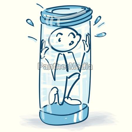postac stiash utknal w szklance i