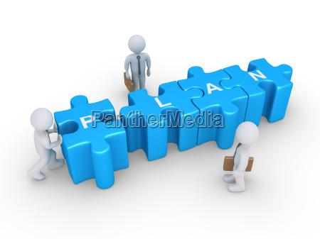 puzzli i biznes planu