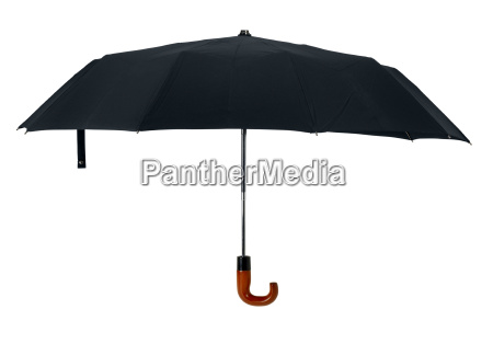 black open gentleman umbrella cutout