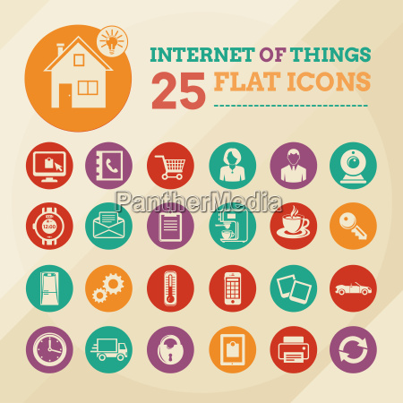 zestaw ikon inteligentnego domu i internetu