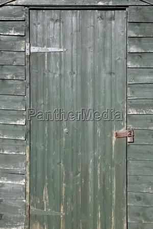 drewno drewna drzwi door zablokowany wyblakly