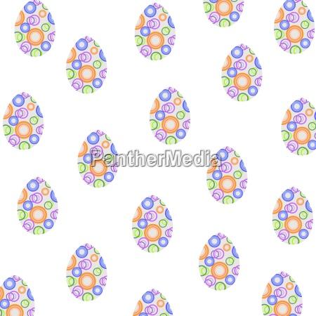 wesołe, tło, wielkanocne, z, kolorowymi, dekorami - 16324385