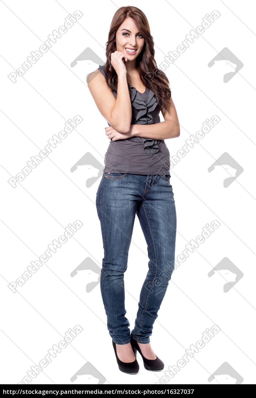 cute, lady, pozowanie, do, aparatu - 16327037