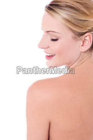 piękna, kobieta, ze, zdrową, skórą - 16327237