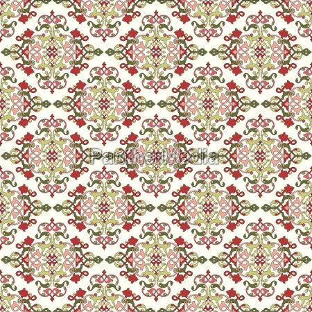 osmańska, turecki, wzór, czterokrotny, projekt, wektor - 16345519