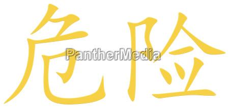 chinski znak niebezpieczenstwa