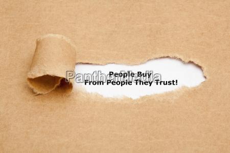ludzie kupuja od ludzi ktorych ufaja