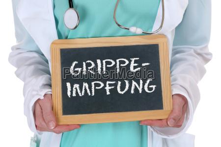 grypie grypie zaszczepionego choroby chory lekarz