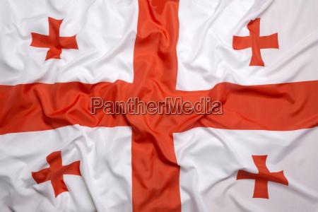 azja flaga gruzja bandera kontynent kaukaz