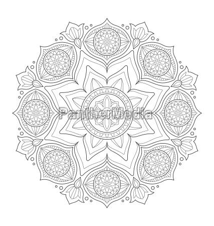 mandala ilustracja do kolorowania dla doroslych