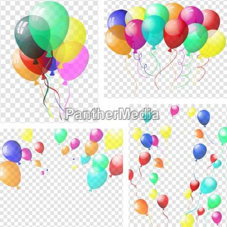 przezroczyste kolorowe balony