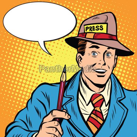 pozytywne wywiady retro dziennikarz prasa media