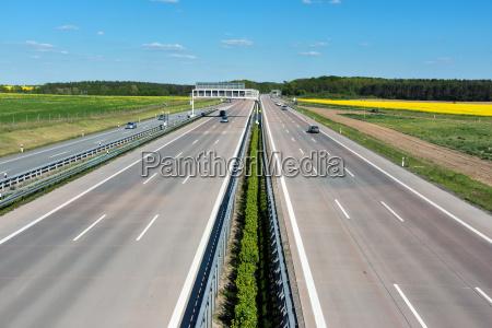 autostrada w niemczech z niewielkim natezeniem
