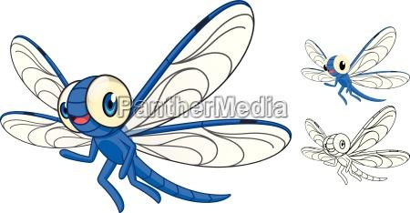 sztuka dragonfly postacie znaki pisowni charakter