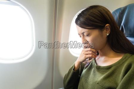 strach przed lataniem kobiety w plaszczyznie