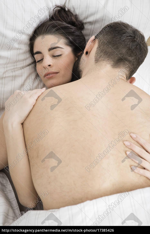 para, seks, w, łóżku - 17385426