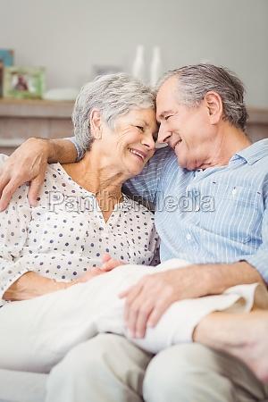 high angle view of romantic senior