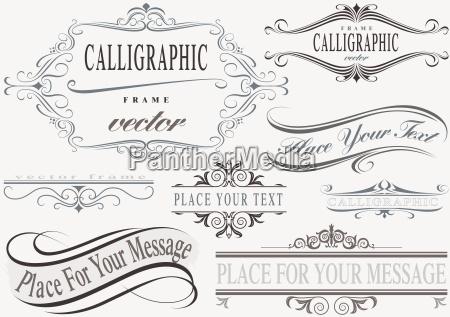 kaligraficzne zestaw ramek