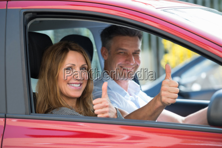 couple, sitting, in, car - 17595072