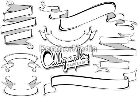 kolekcja banerow kaligraficznych