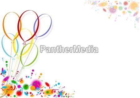 kolorowe balony party