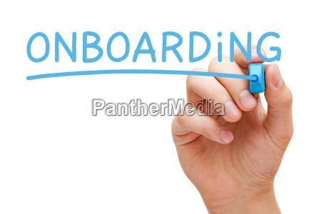 onboarding niebieski marker