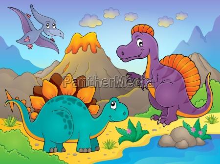 dinozaur temat obrazu 5