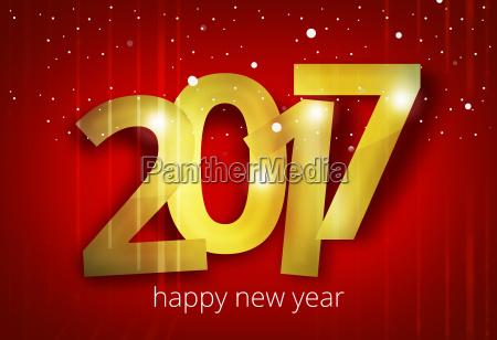 renderowanie happy new year 2017 3d