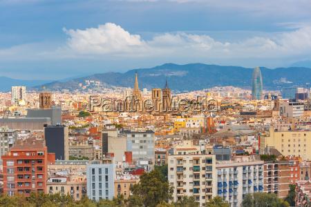 widok z lotu ptaka barcelona u200bu200bcatalonia