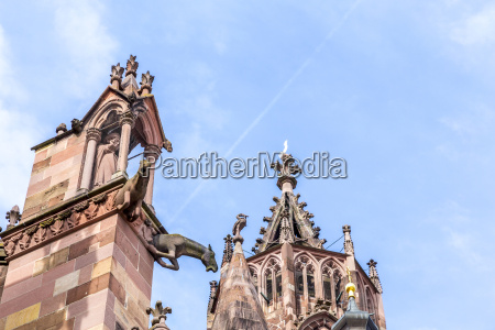 gargoyle made of sandstone at freiburg